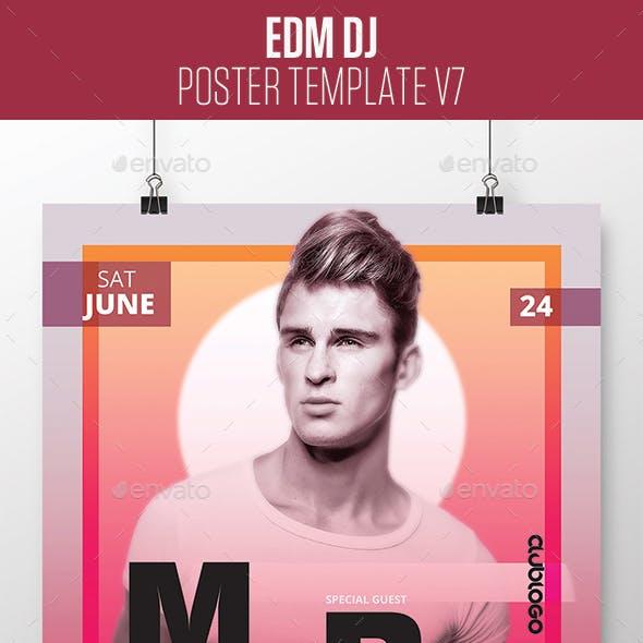 EDM Dj Poster v7