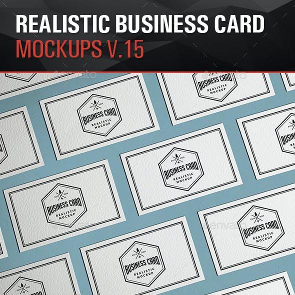 Realistic Business Card Mockups V.15