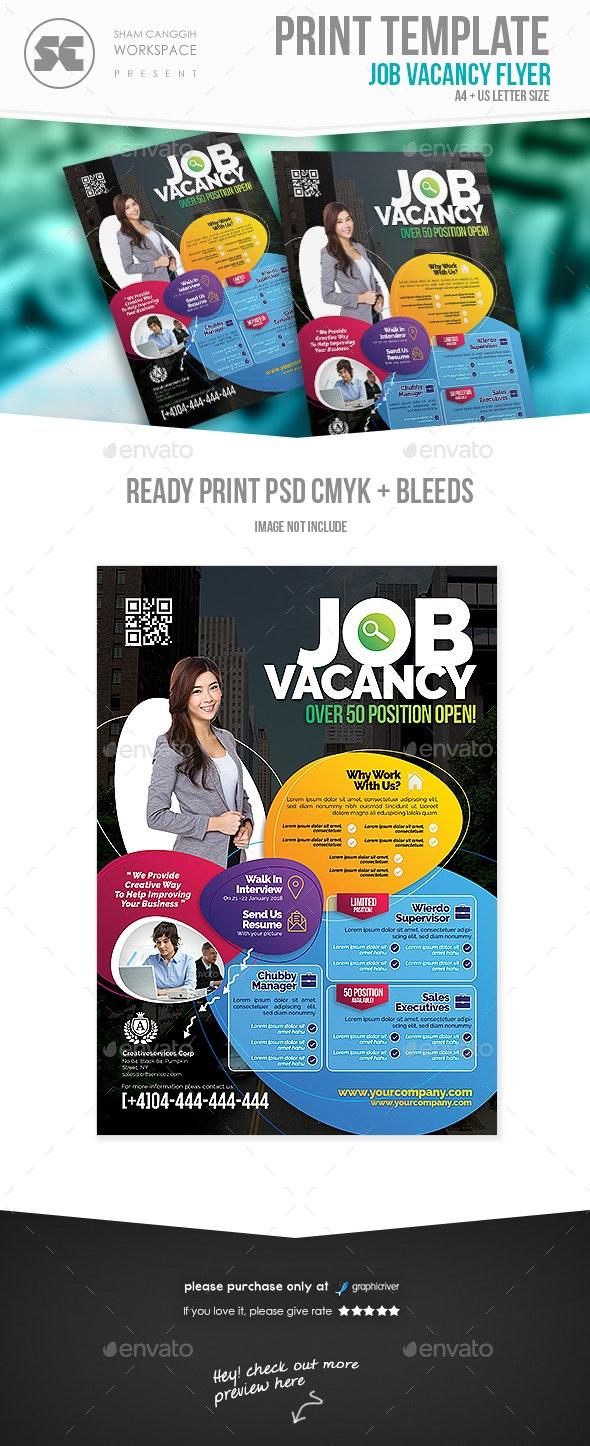 Job Vacancy Fair Flyer - Miscellaneous Events