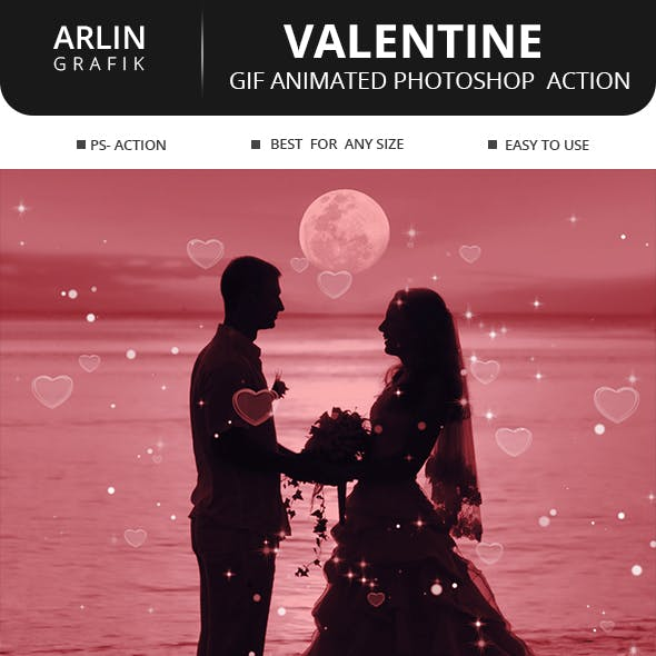 Gif Animated Valentine Photoshop Action