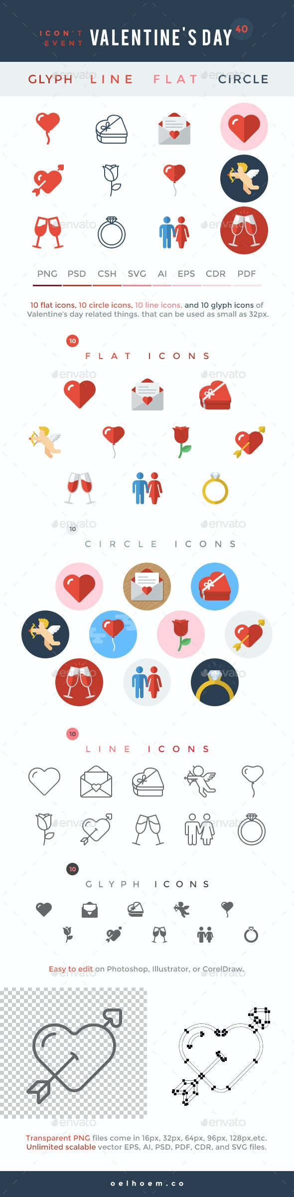 Icon't Event - 40 Valentine's Day Icons