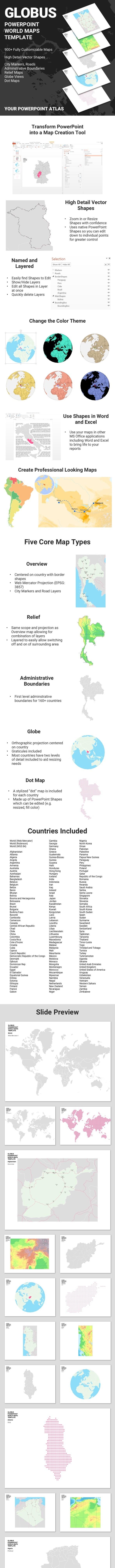 GLOBUS - PowerPoint Maps Template - Miscellaneous PowerPoint Templates