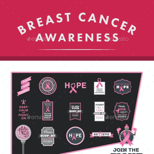 Breast Cancer Vector Icons