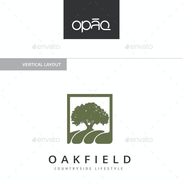 Oak Field Tree Logo