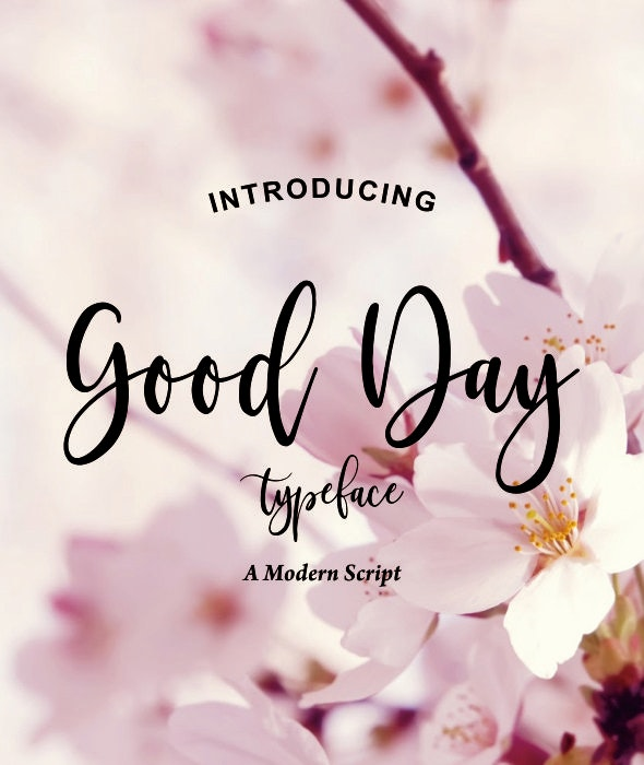 GoodDay - Script Fonts