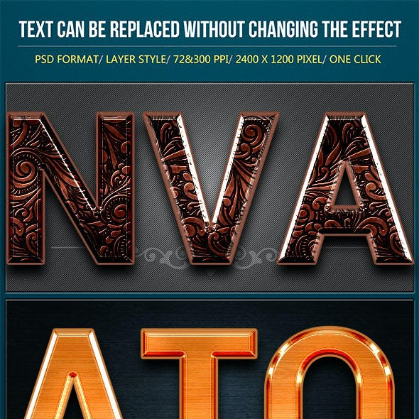 Perfectly Clear Metallic Text Effects