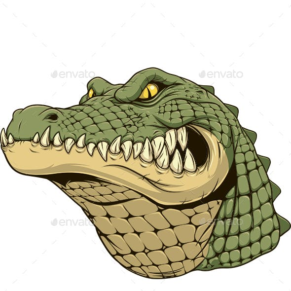 Ferocious Alligator Head