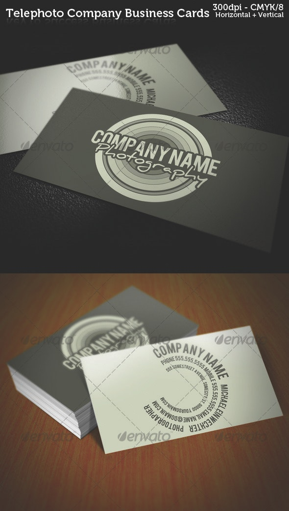 Telephoto Photography Company Business Cards - Industry Specific Business Cards