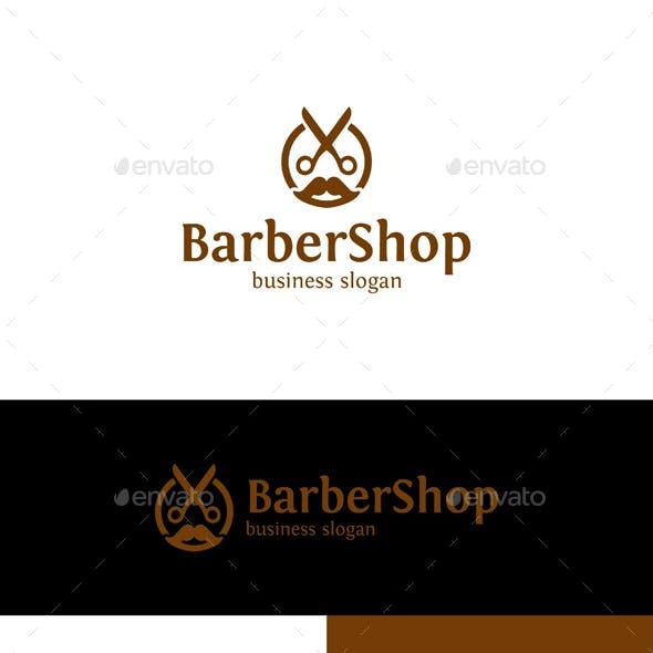 Barber Man Logo - Barber Shop / Scissors