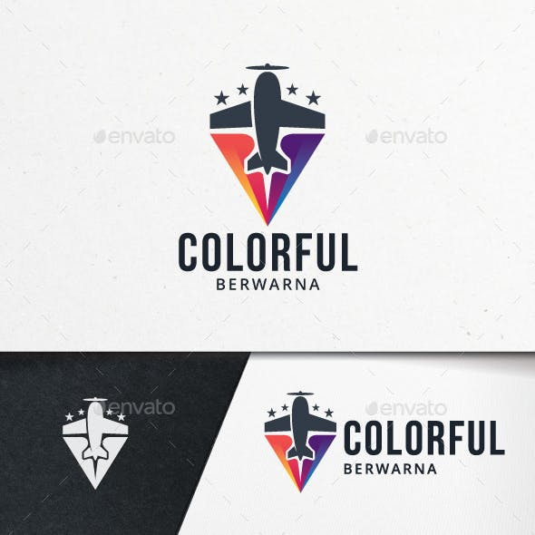 Colorful Flight Logo Template