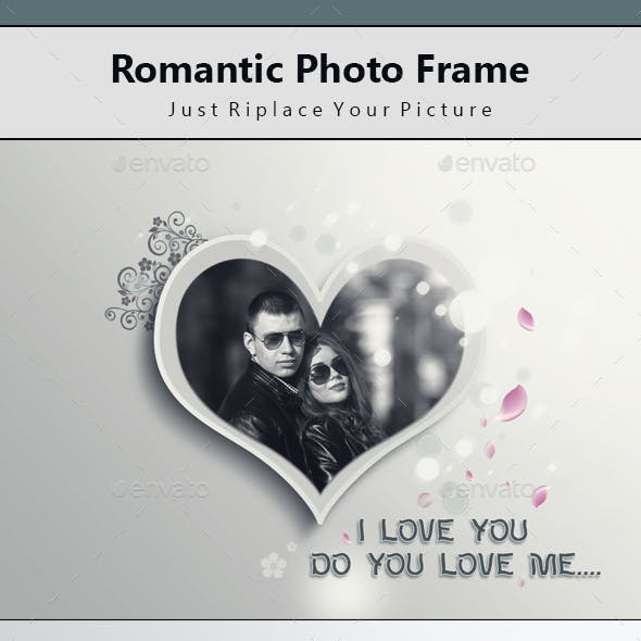 Romantic Photo Frame Template
