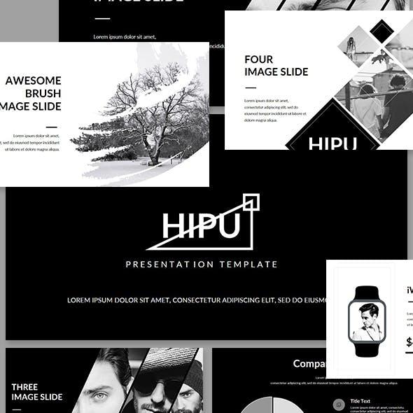 HIPU - Black White Presentation Template