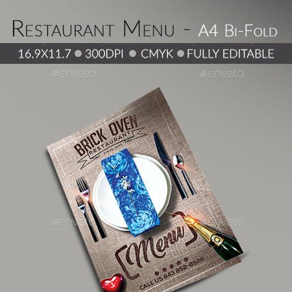 Food/ Restaurant Menu