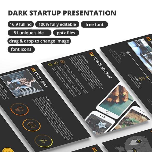 Dark StartUp - PowerPoint Presentation