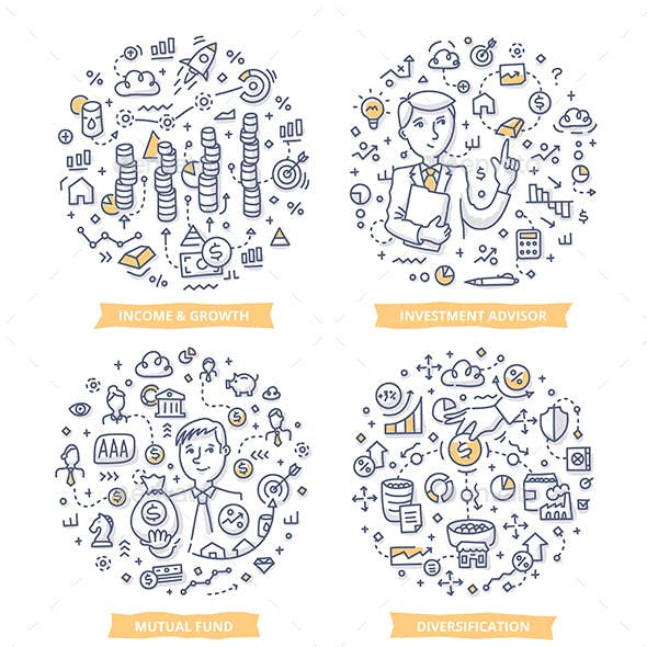 Investment Doodle Illustrations