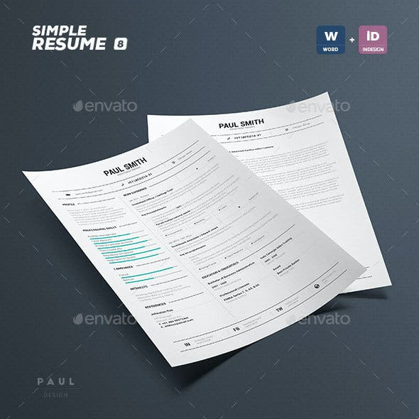 Simple Resume/Cv Volume 8