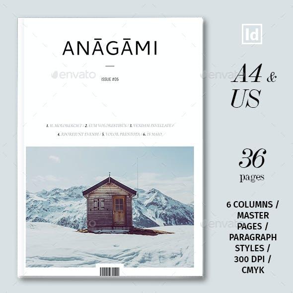 Anagami Magazine Template