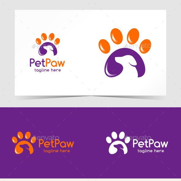 Pet Paw Logo Template