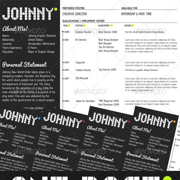 One Page Creative Resume Kit