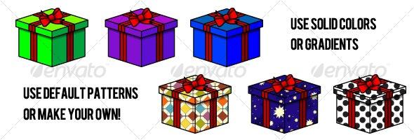 Gift Boxes with Ribbon - Christmas Seasons/Holidays