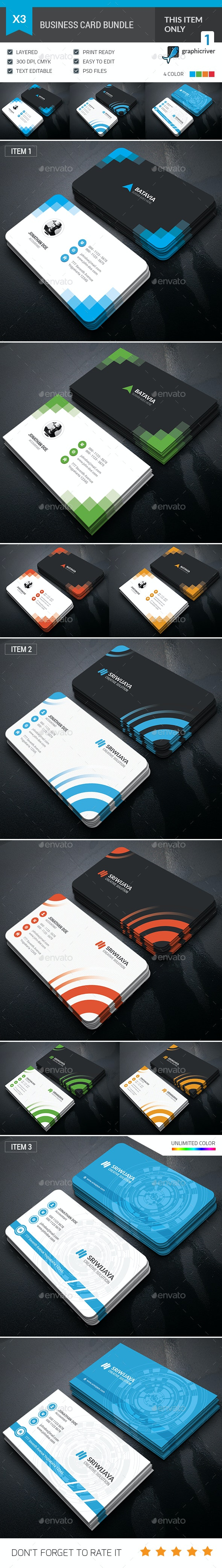 Professional Business Card Bundle - Corporate Business Cards