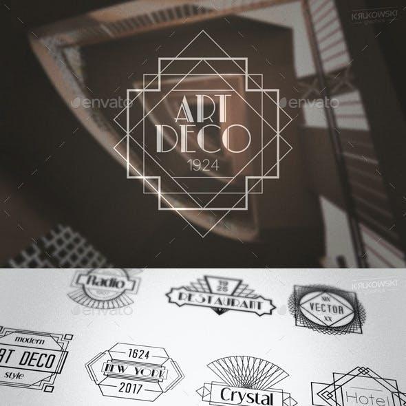 Art Deco Gatsby Style Badges Logos