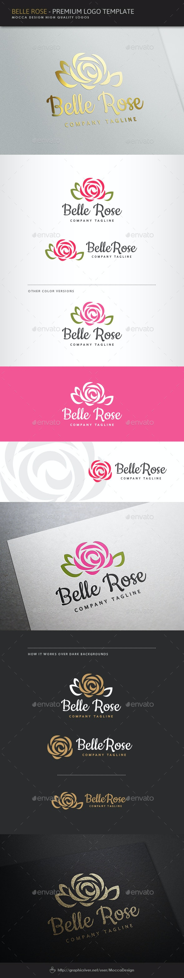 Belle Rose Logo - Nature Logo Templates