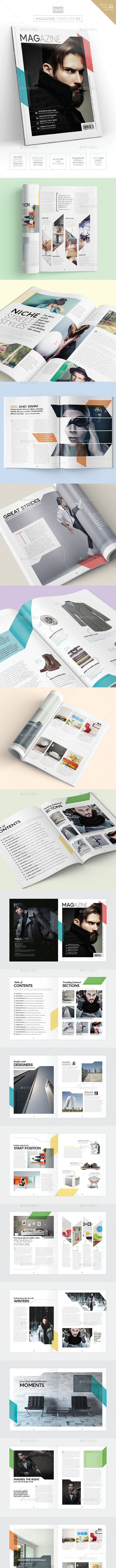 Magazine Template - InDesign 40 Page Layout V9 - Magazines Print Templates