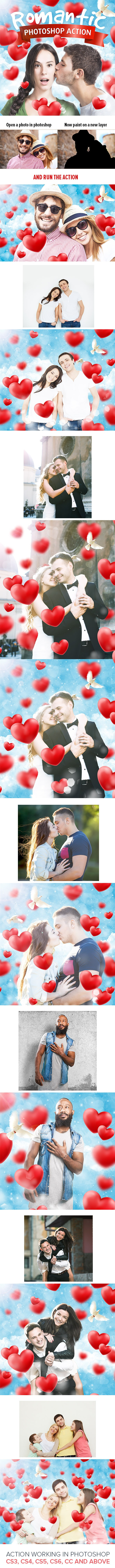 Romantic Photoshop Action - Photo Effects Actions