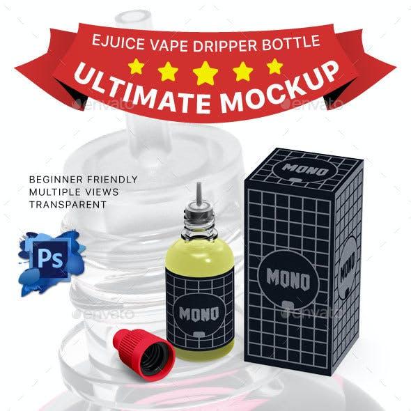 Ejuice Vape Dripper Bottle Mockup
