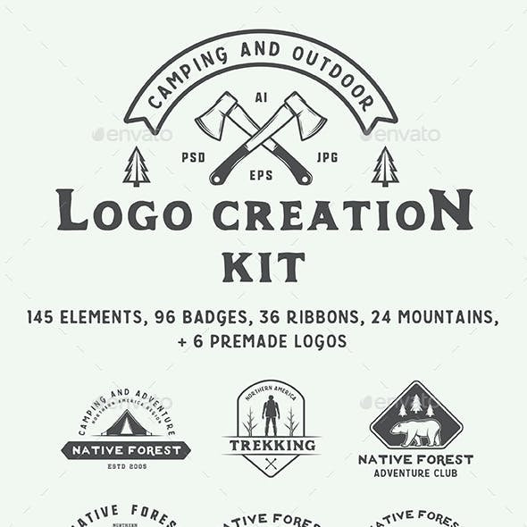 Camping Logo Creation Kit