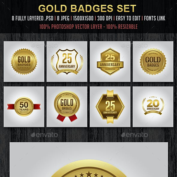 Gold Badges / Logo Set