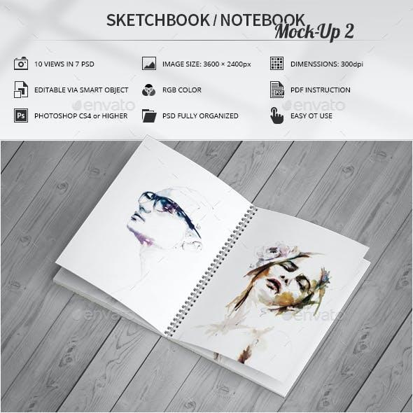 Sketchbook / Notebook Mock-Up 2