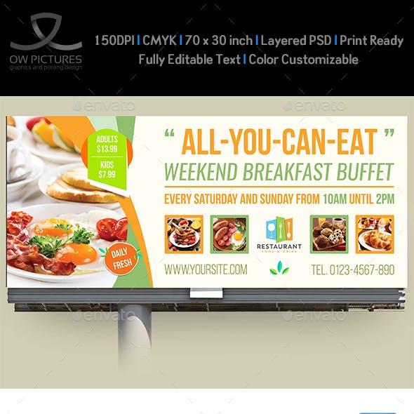 Breakfast Restaurant Billboard Template Vol2
