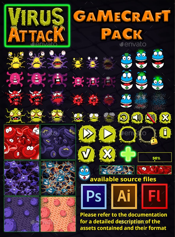 Virus Attack Game Assets - Game Kits Game Assets