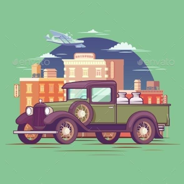 Retro Pickup Truck Concept