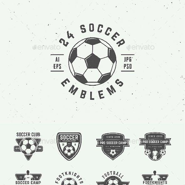 24 Vintage Soccer Emblems