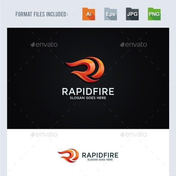 Rapid Fire - R Letter Logo Template