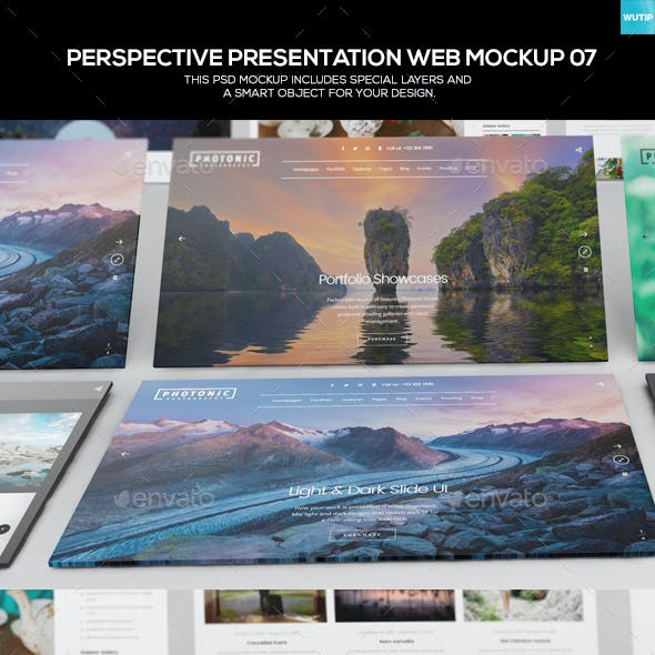 Perspective Presentation Web Mockup 07