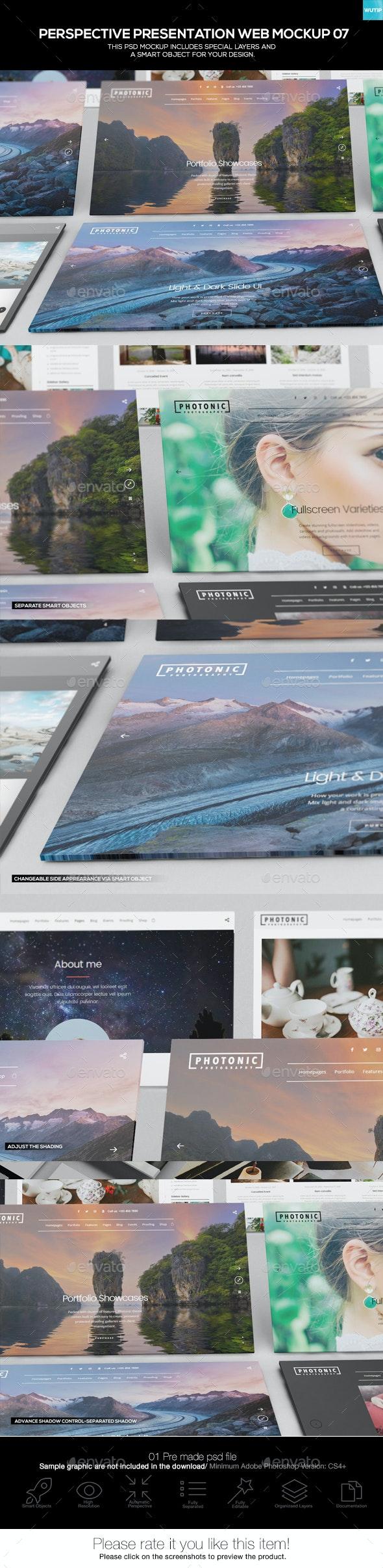 Perspective Presentation Web Mockup 07 - Website Displays