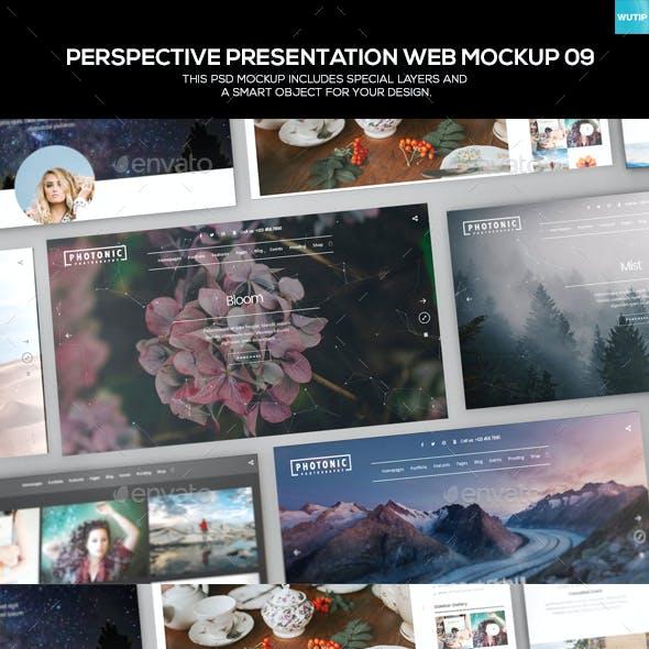 Perspective Presentation Web Mockup 09