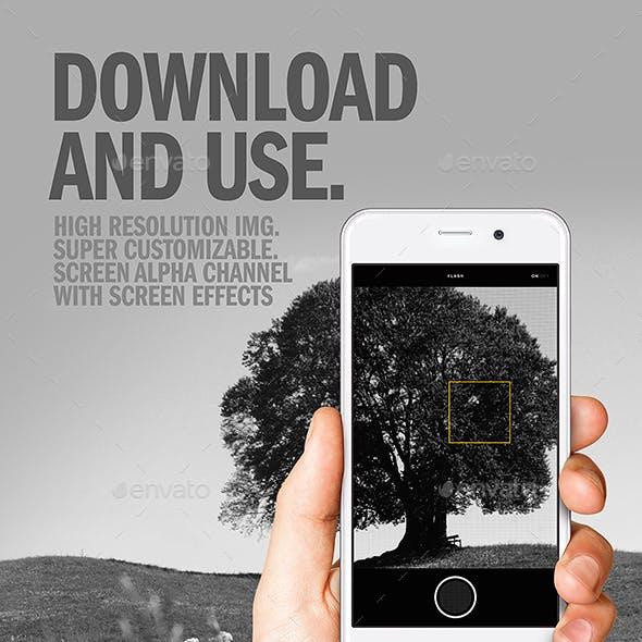 Cellphone Camera Mode Set PSD Mockup