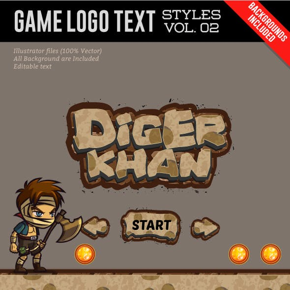 Game Logo Text Effect Vol.02