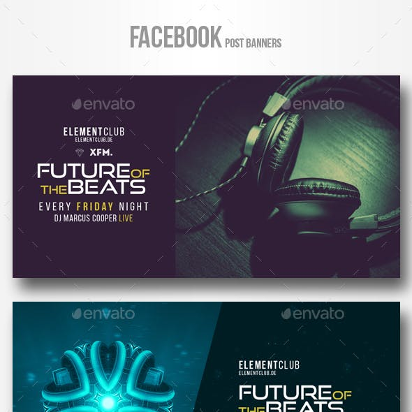 Electronic Music Party vol.13 - Facebook Post Banner Templates