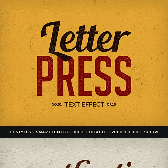 Vintage Letterpress Text Effects