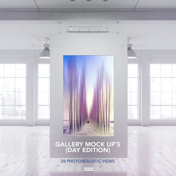 Gallery Poster Mock-Up (Day edition)