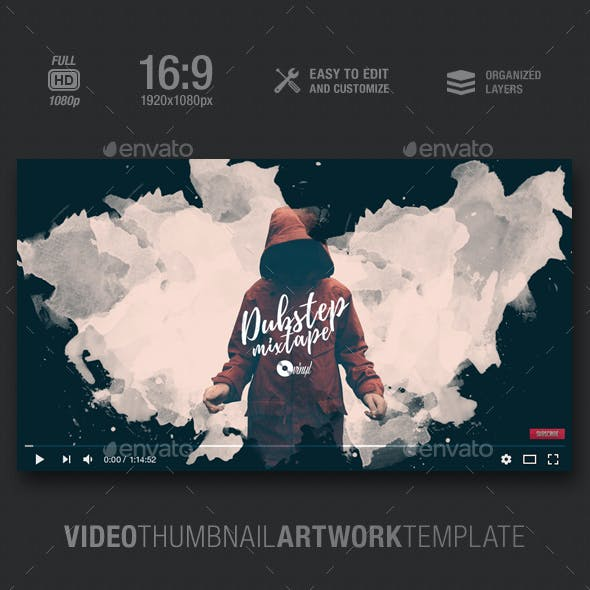 Dubstep Mixtape - Video Thumbnail Artwork Template