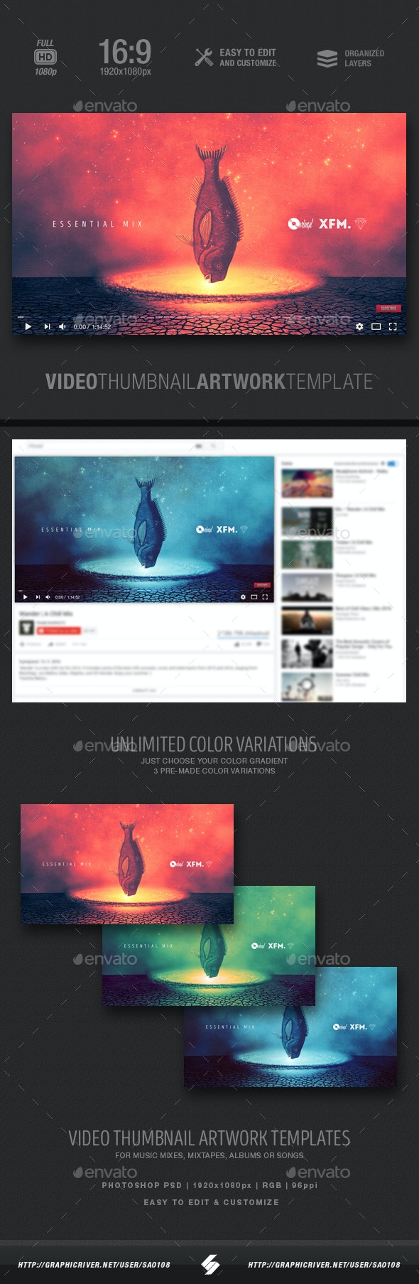 Impact - Essential Mix Video Thumbnail Template - YouTube Social Media