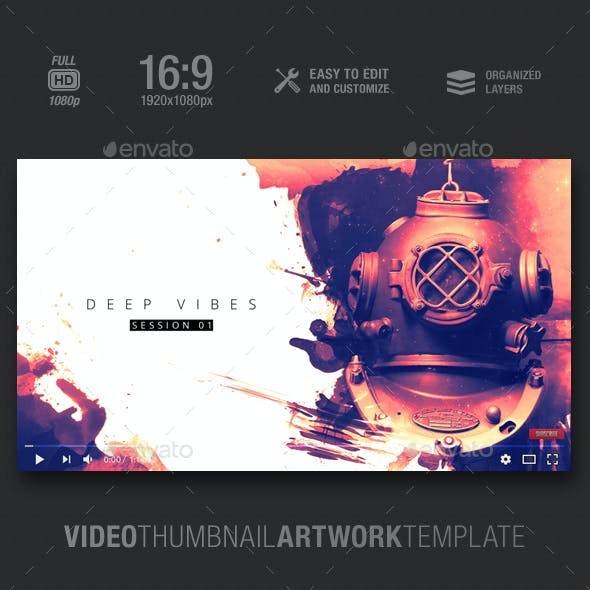 Deep Vibes - Video Thumbnail Artwork Template