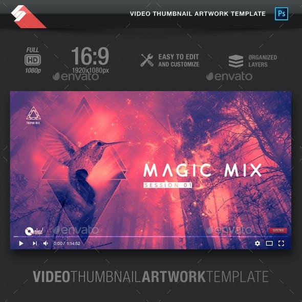 Magic Mix - Video Thumbnail Artwork Template